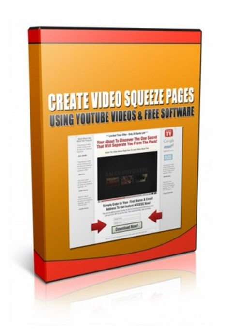 Product picture Create Video Squeeze Pages Using YouTube Videos and Free Sof